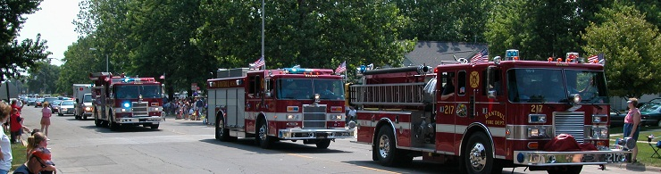 Rantoul Fire Dept in Parade