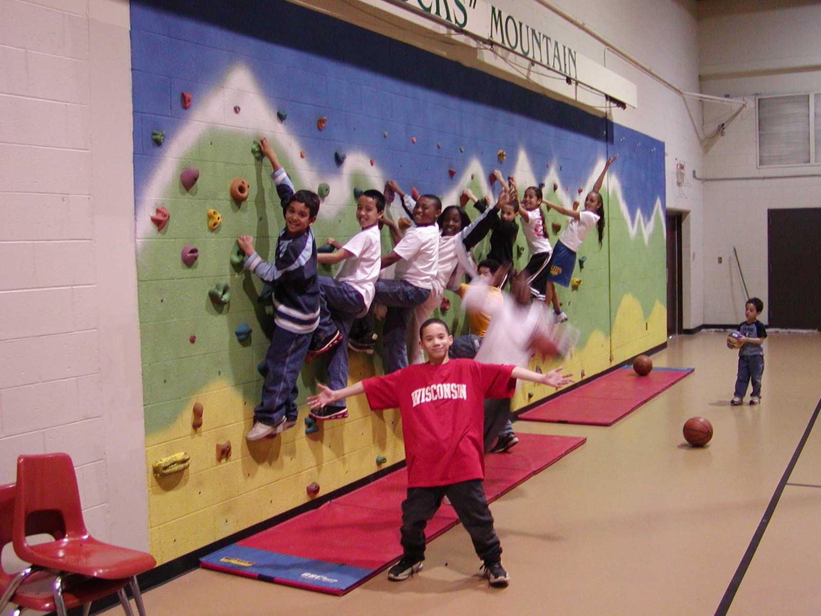 Youth Center climbing wall