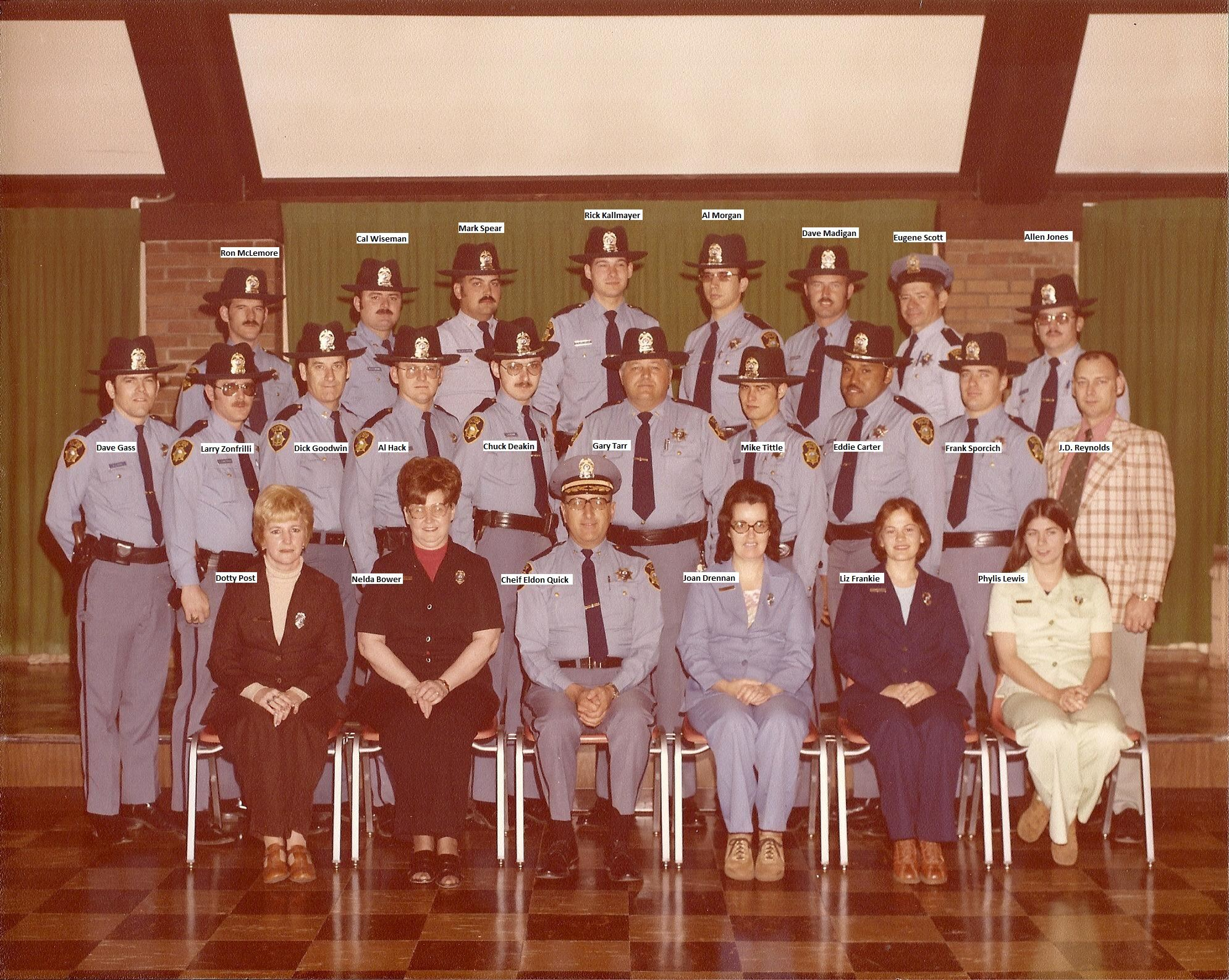 1977 Dept Photo Names Added